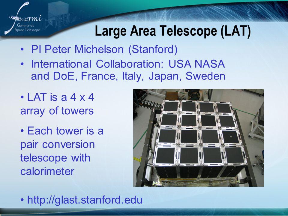 Large Area Telescope (LAT)
