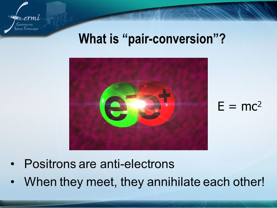 What is pair-conversion