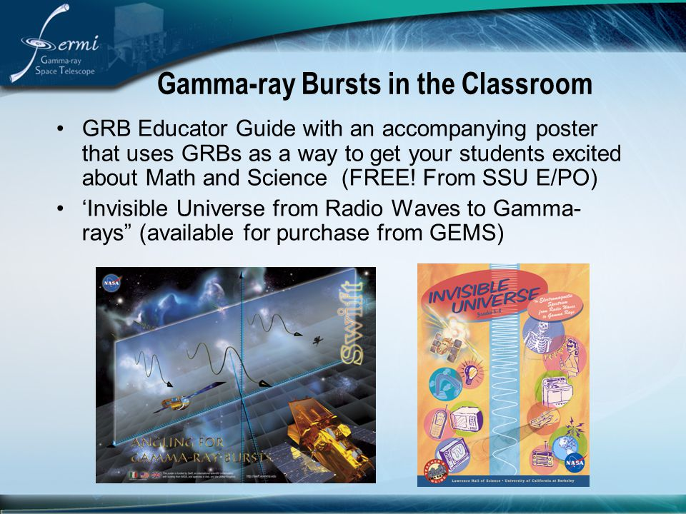 Gamma-ray Bursts in the Classroom
