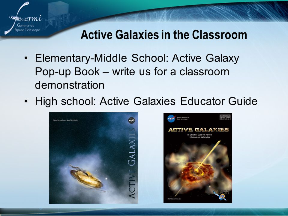 Active Galaxies in the Classroom