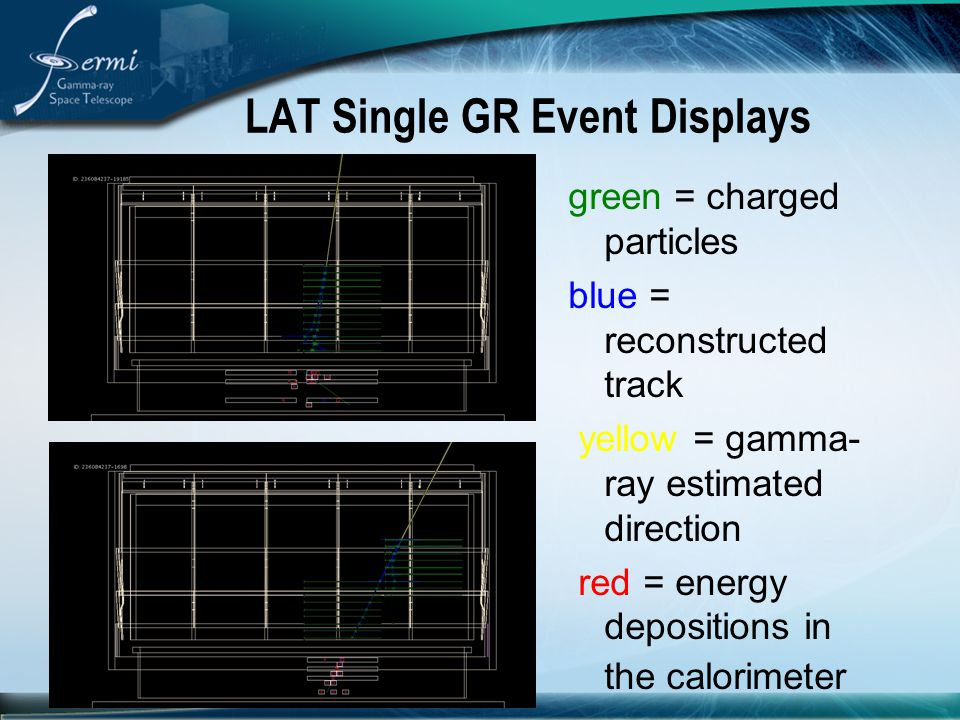 LAT Single GR Event Displays