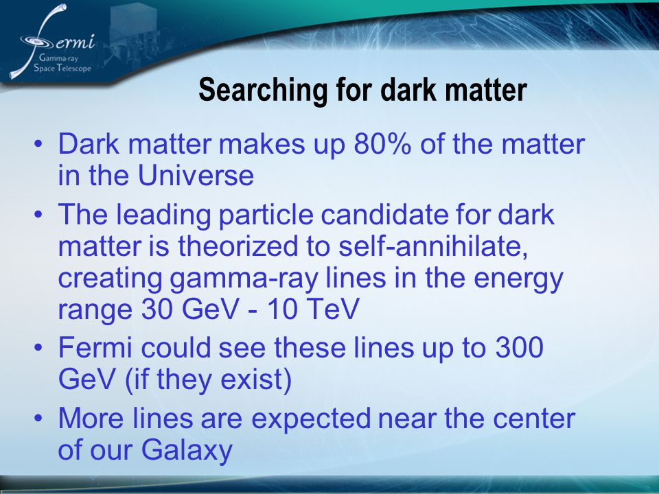 Searching for dark matter