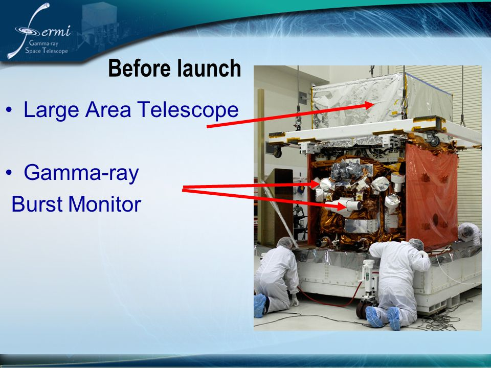 Before launch Large Area Telescope Gamma-ray Burst Monitor