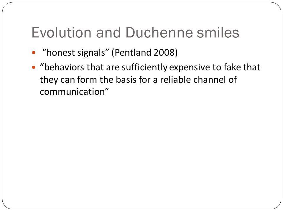 Evolution and Duchenne smiles
