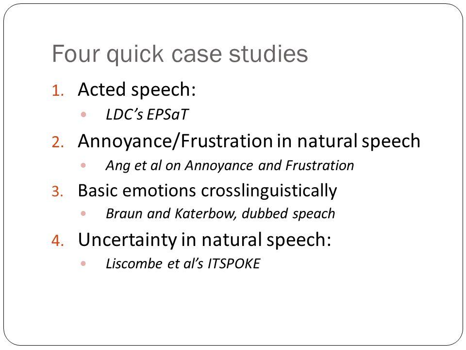 Four quick case studies