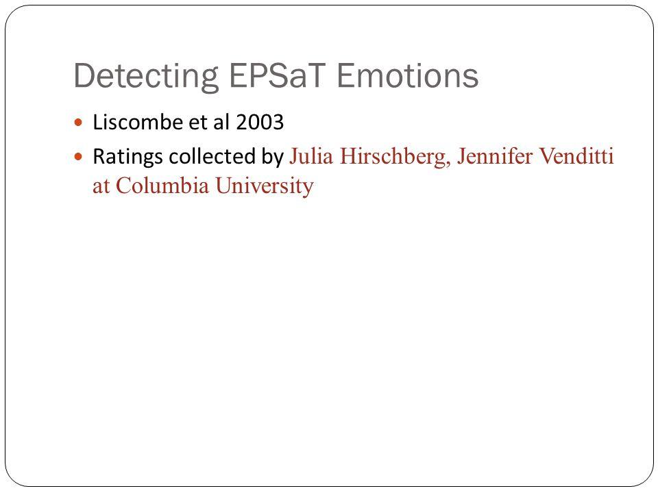 Detecting EPSaT Emotions