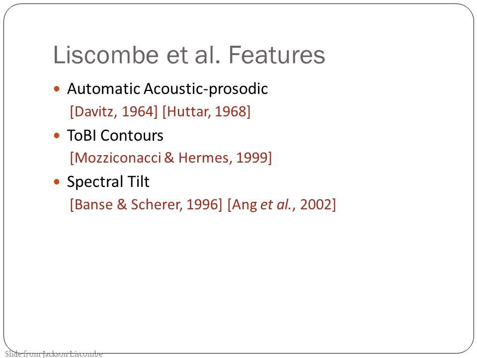 Liscombe et al. Features