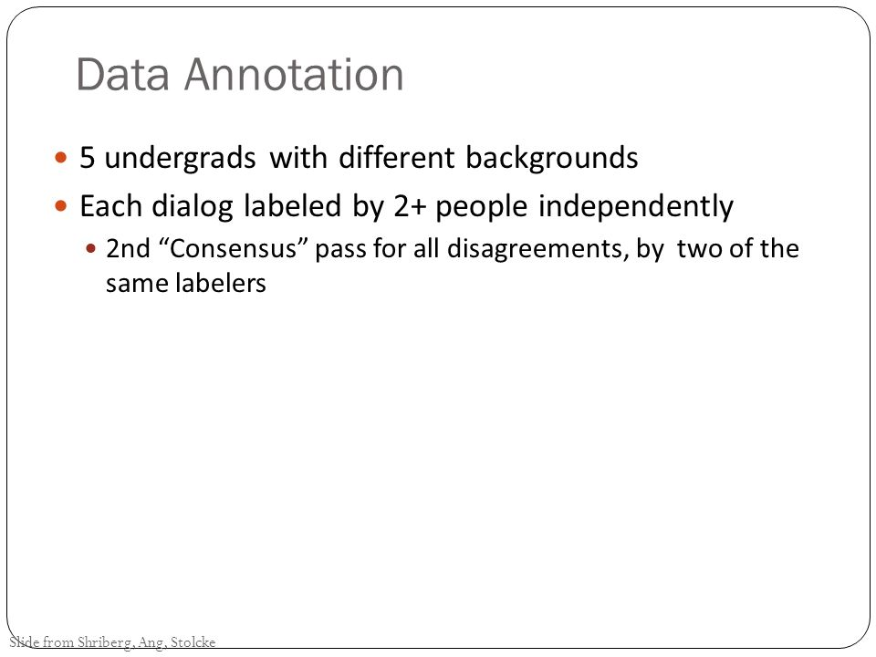 Data Annotation 5 undergrads with different backgrounds
