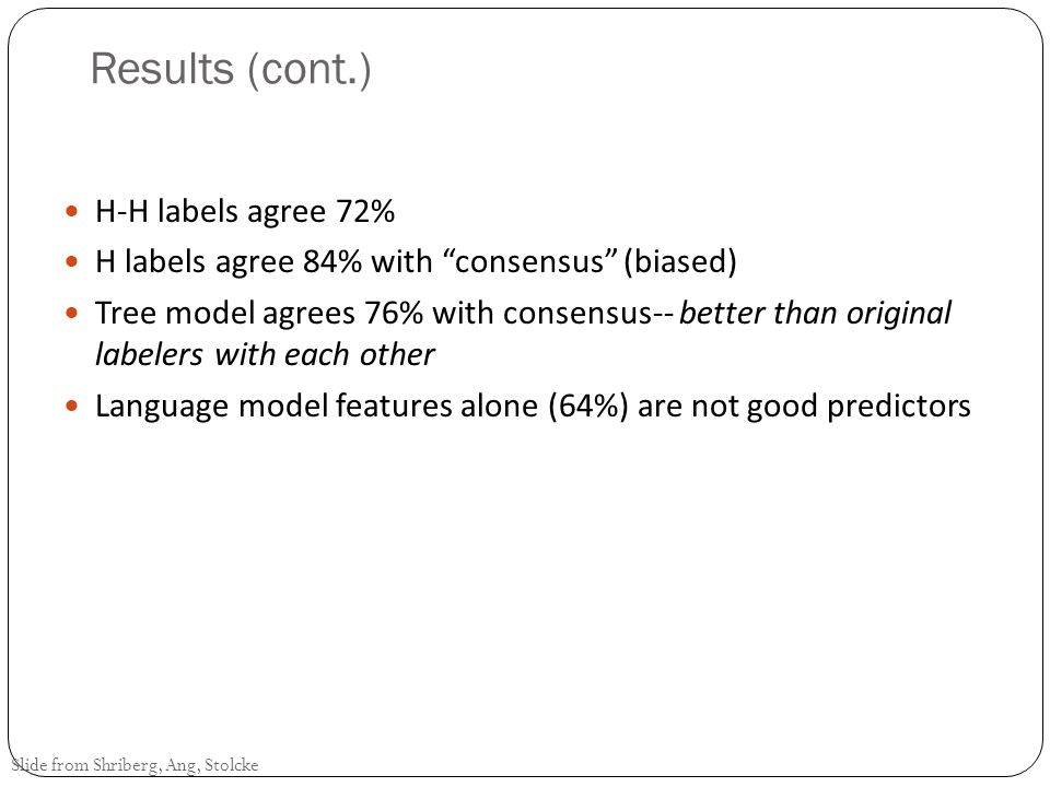 Results (cont.) H-H labels agree 72%