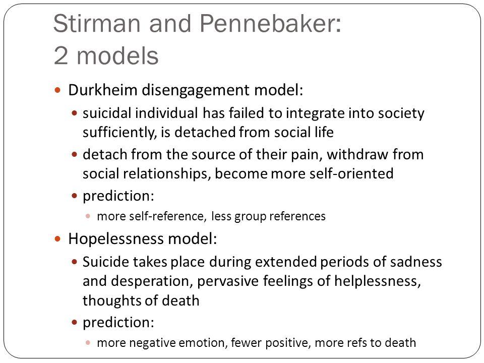 Stirman and Pennebaker: 2 models