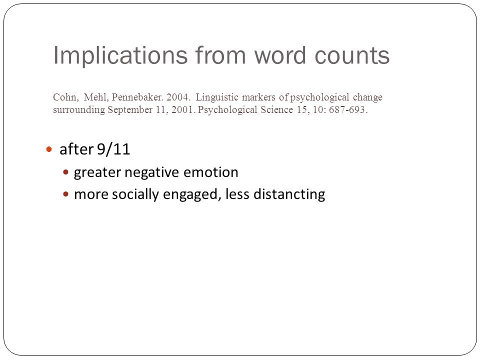 Implications from word counts