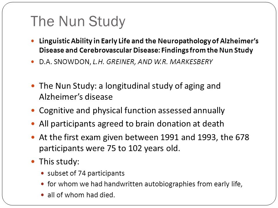 The Nun Study