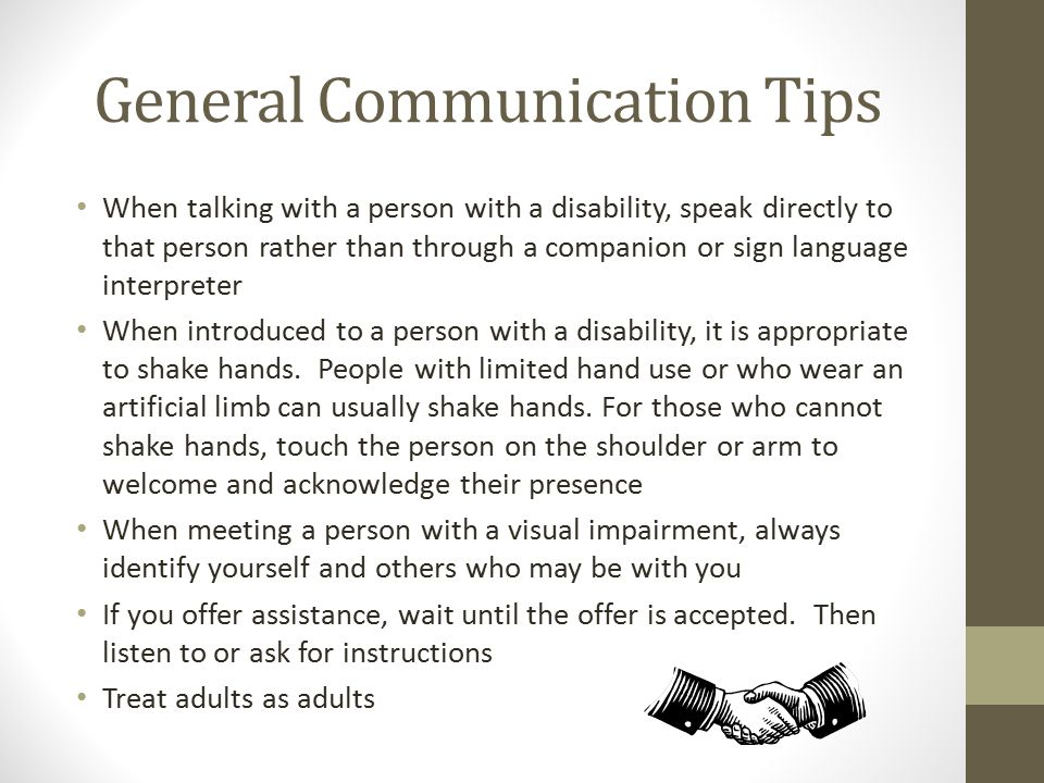 General Communication Tips