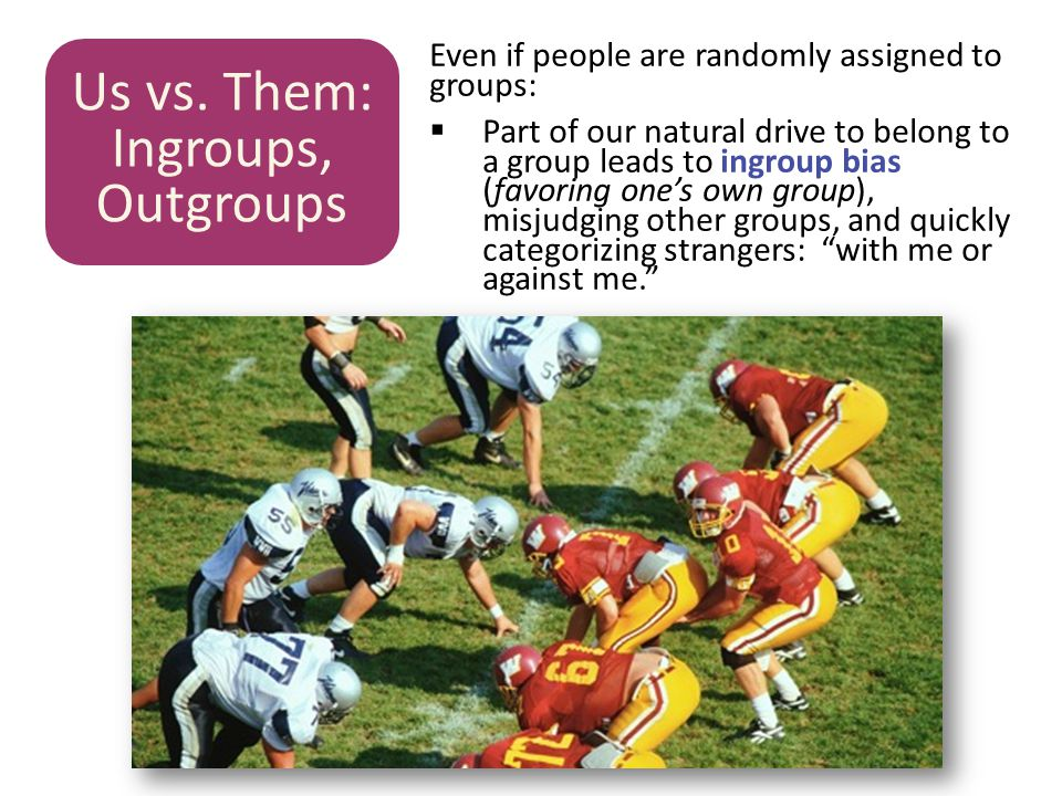 Us vs. Them: Ingroups, Outgroups