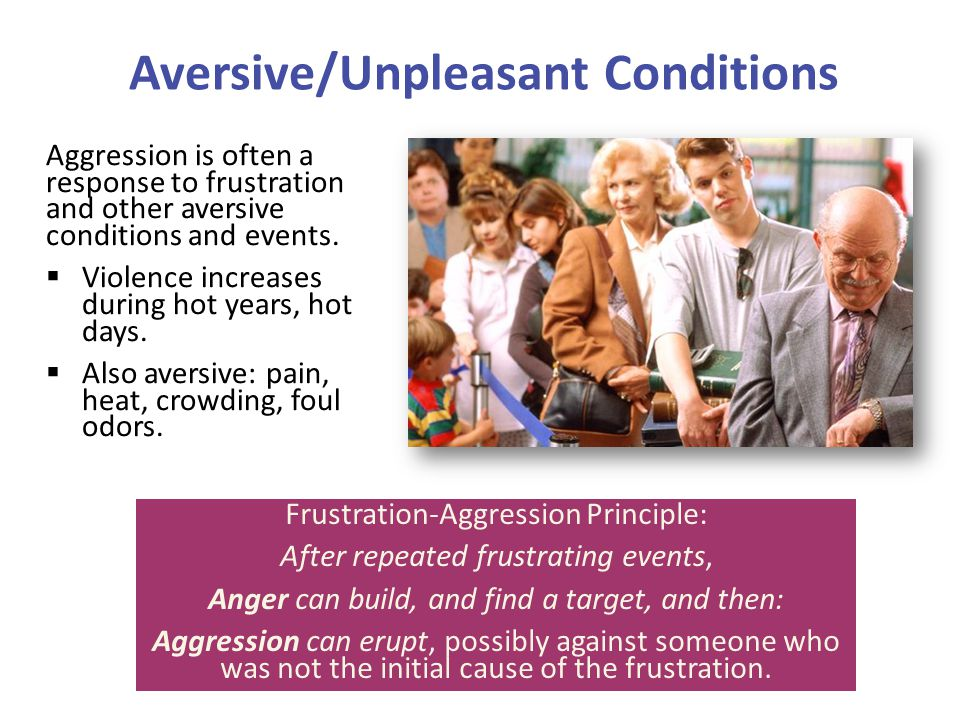 Aversive/Unpleasant Conditions