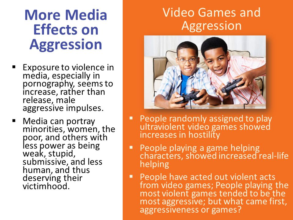 More Media Effects on Aggression