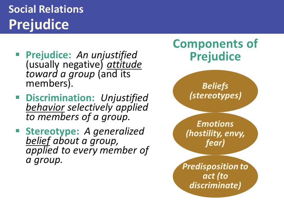 Social Relations Prejudice