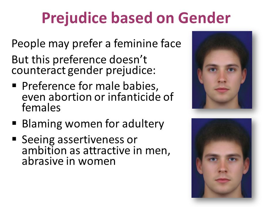 Prejudice based on Gender
