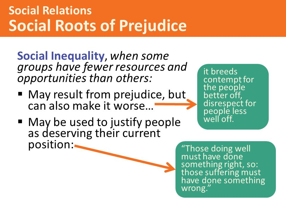 Social Relations Social Roots of Prejudice