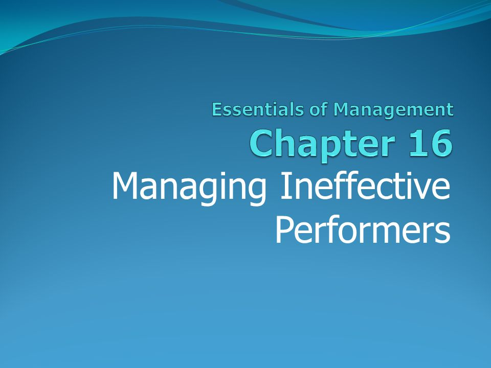 Essentials of Management Chapter 16