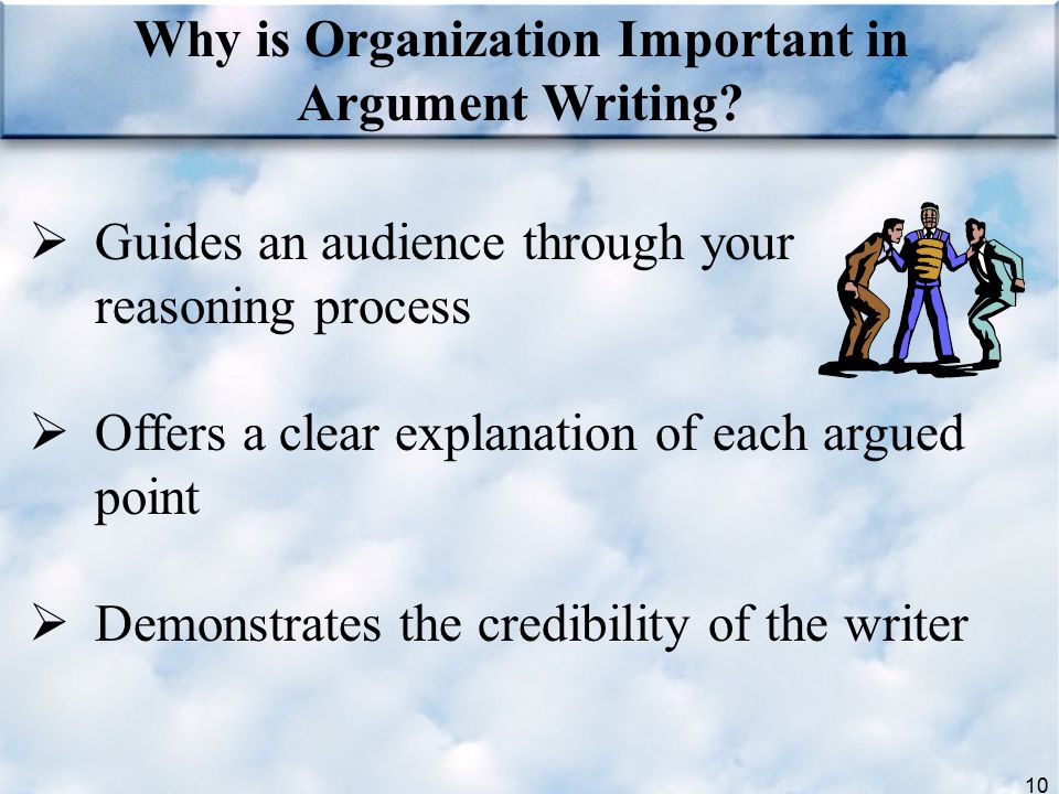 Why is Organization Important in Argument Writing