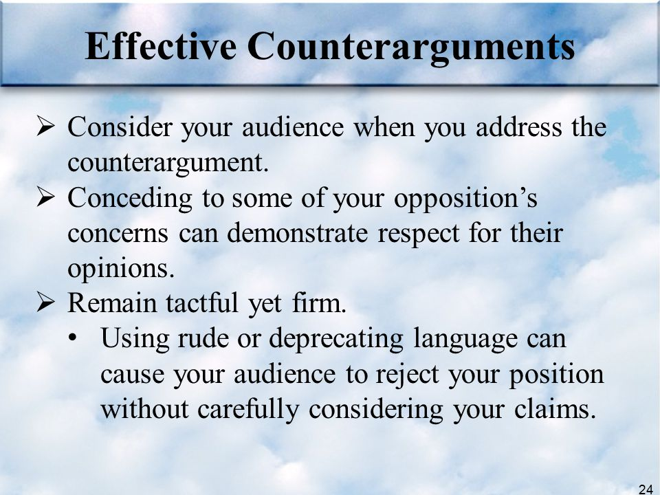 Effective Counterarguments