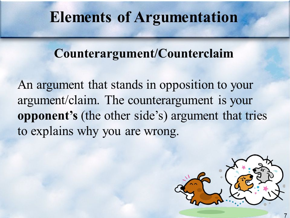 Elements of Argumentation