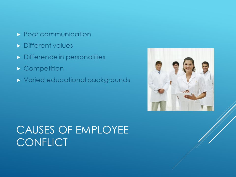 Causes of employee conflict