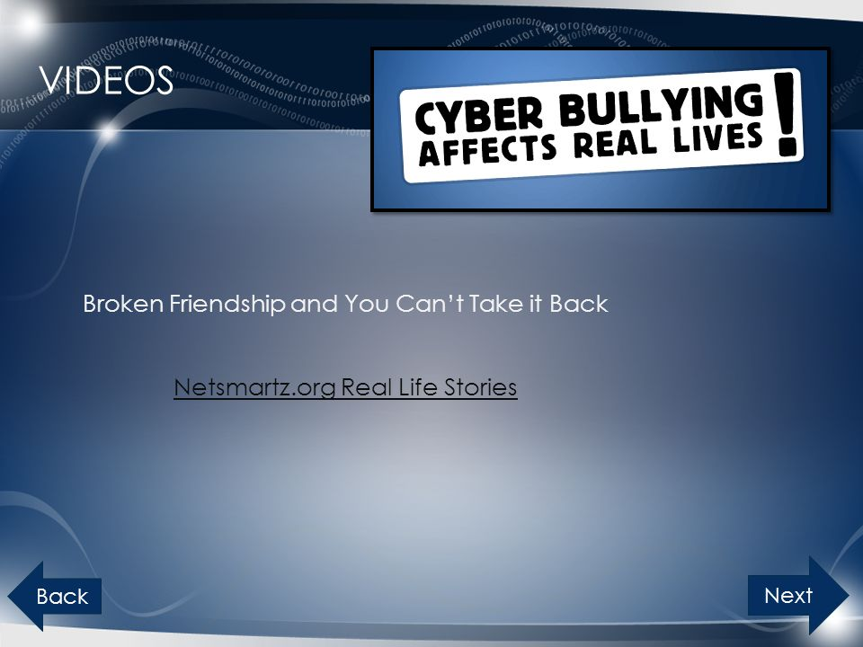 Videos Broken Friendship and You Can't Take it Back Netsmartz.org Real Life Stories Back Next