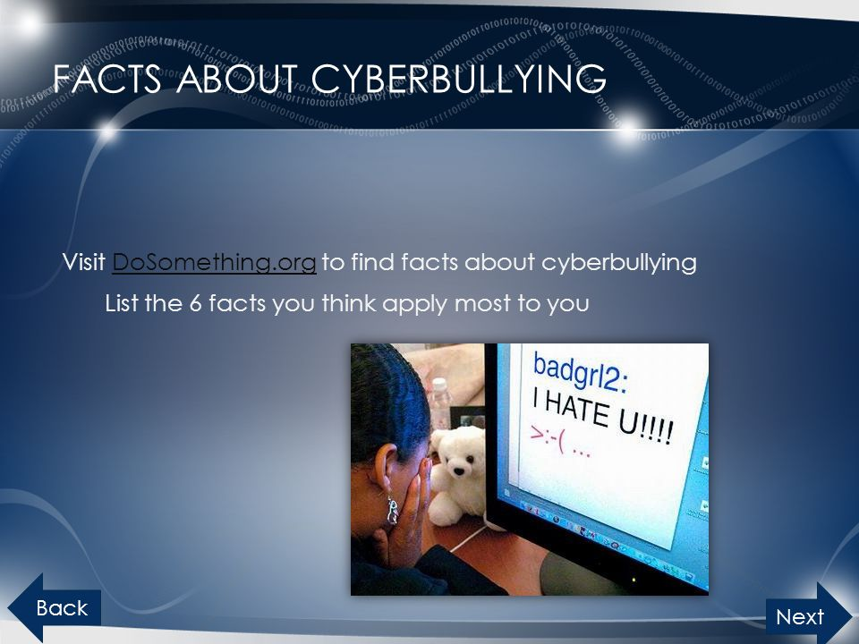 Facts about cyberbullying