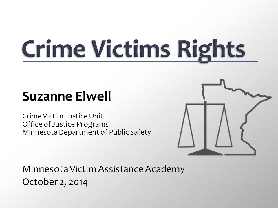 Crime Victims Rights Suzanne Elwell