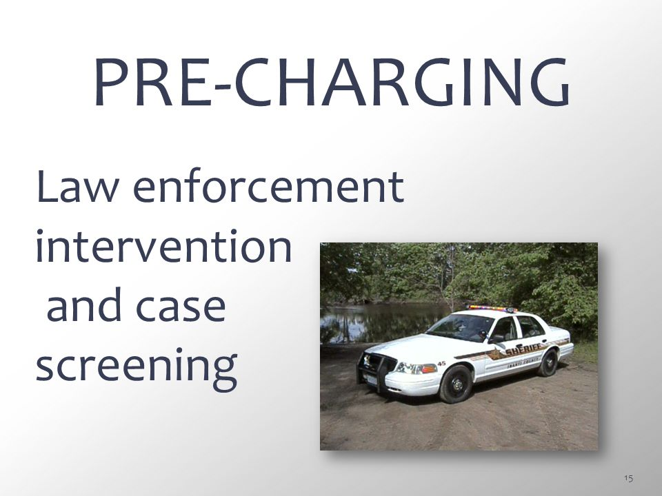 PRE-CHARGING Law enforcement intervention and case screening