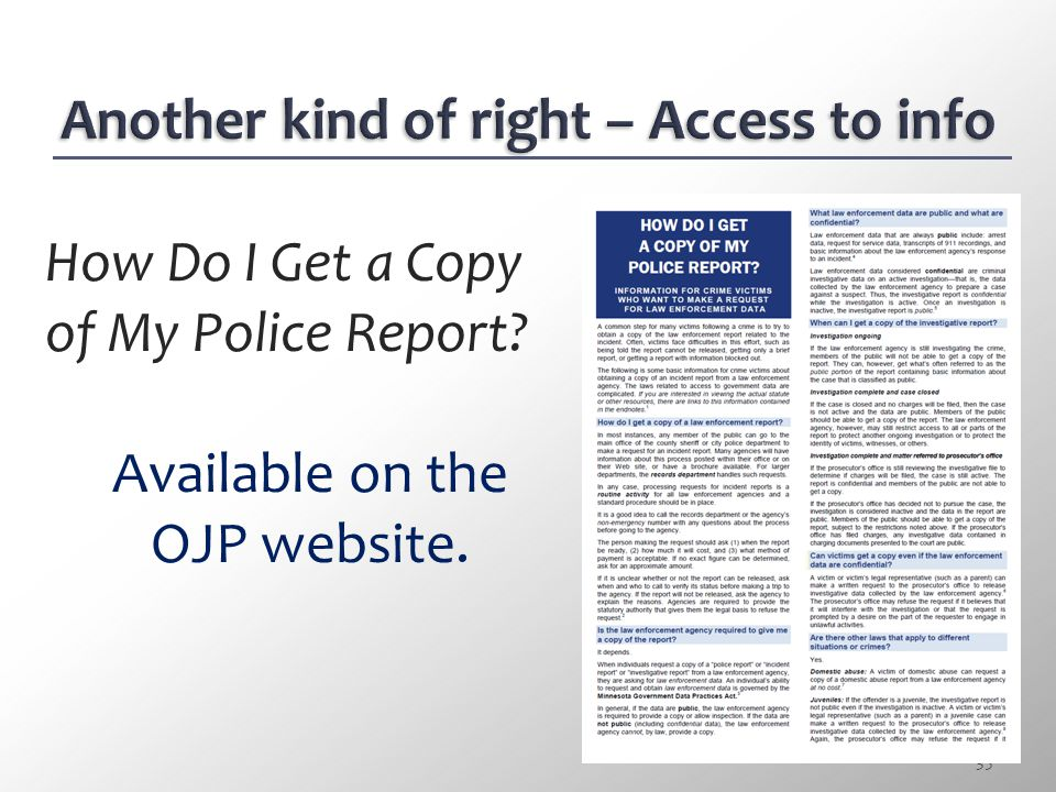 Another kind of right – Access to info