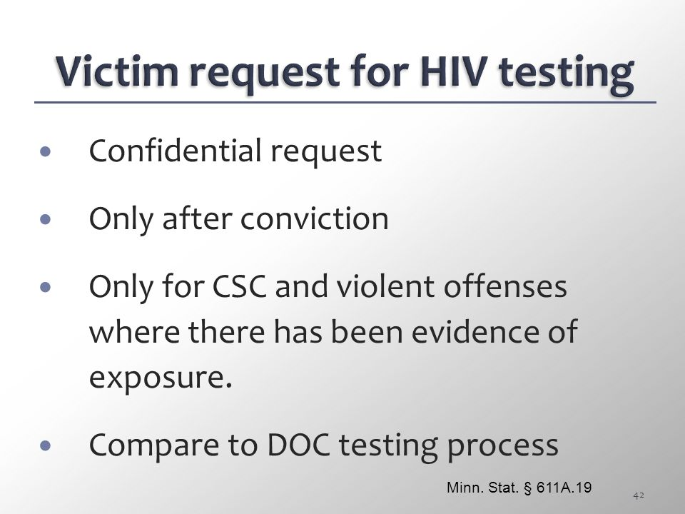 Victim request for HIV testing