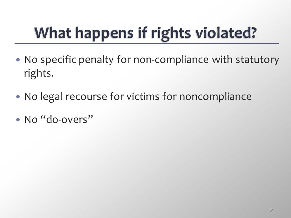 What happens if rights violated