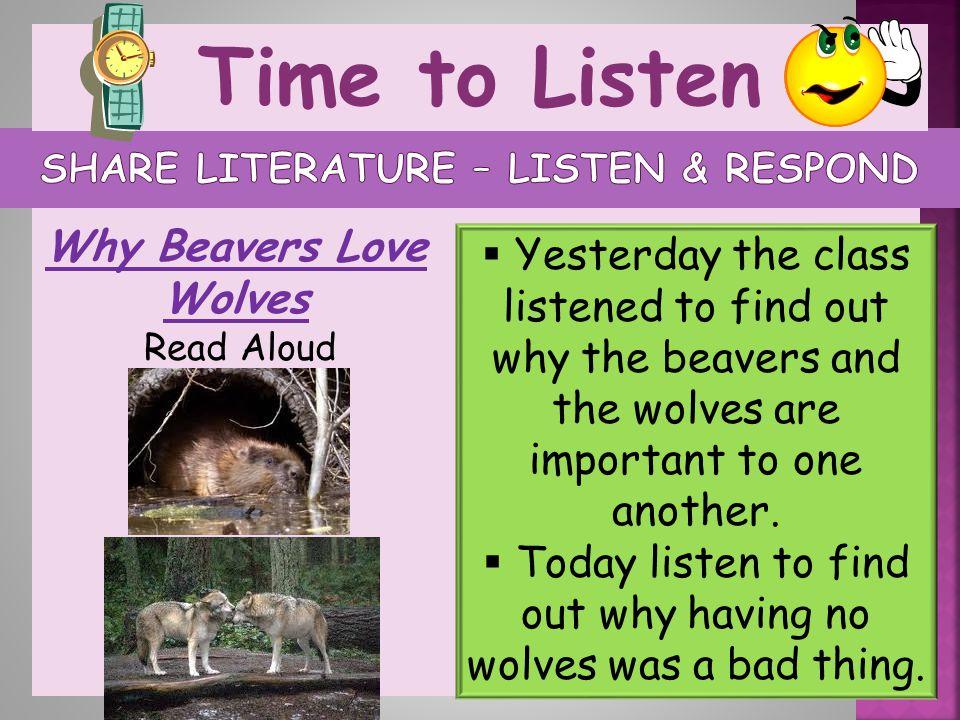 Share Literature – listen & respond