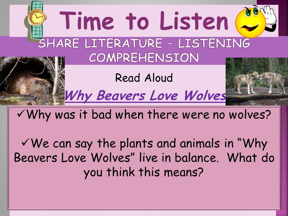 Share Literature – listening comprehension