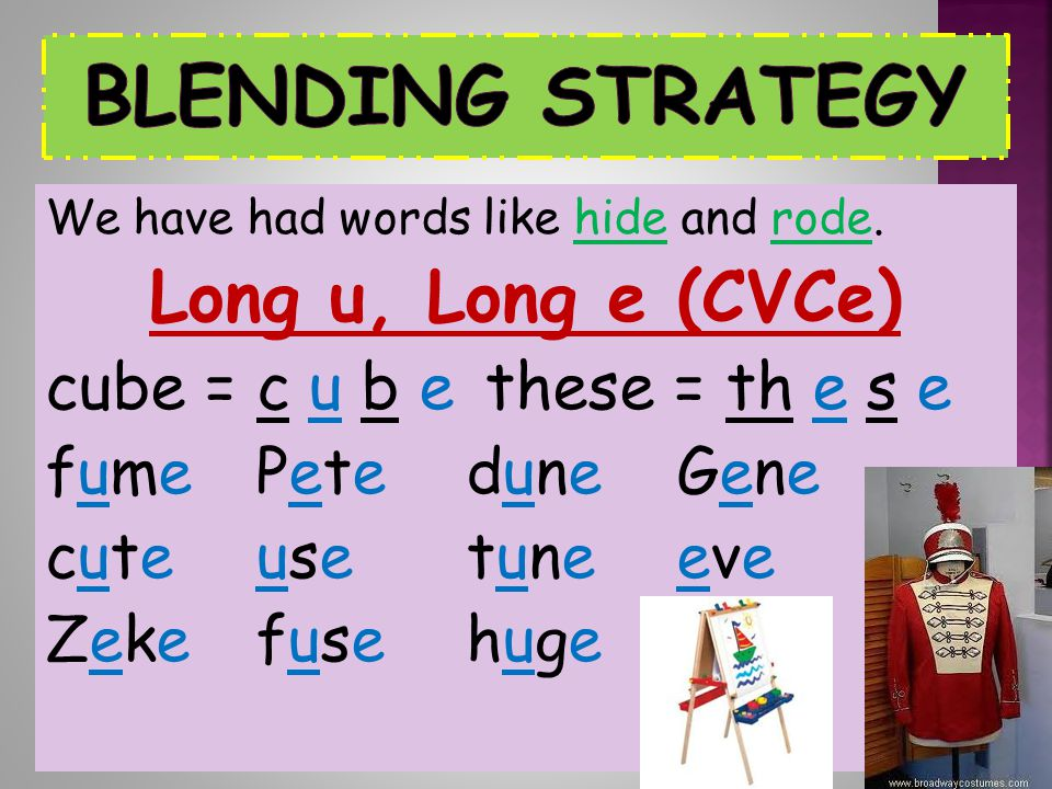 Blending Strategy Long u, Long e (CVCe)