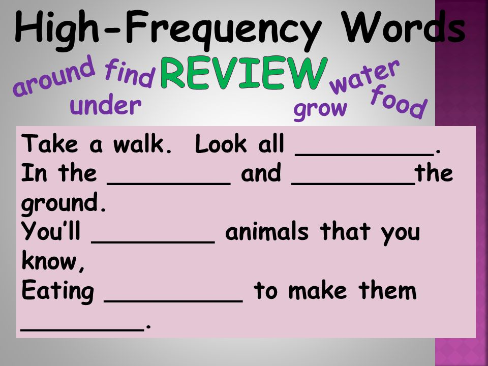 High-Frequency Words Review