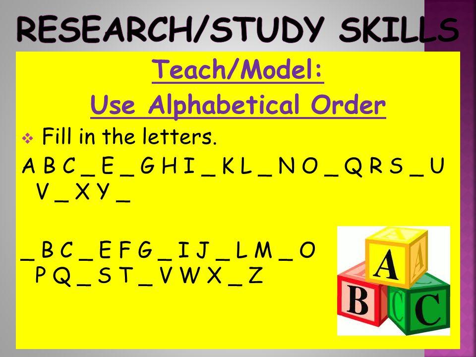 Research/Study Skills