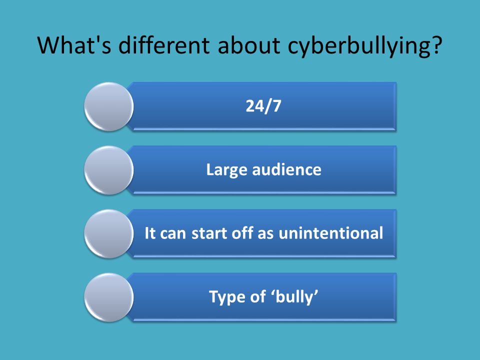 What s different about cyberbullying