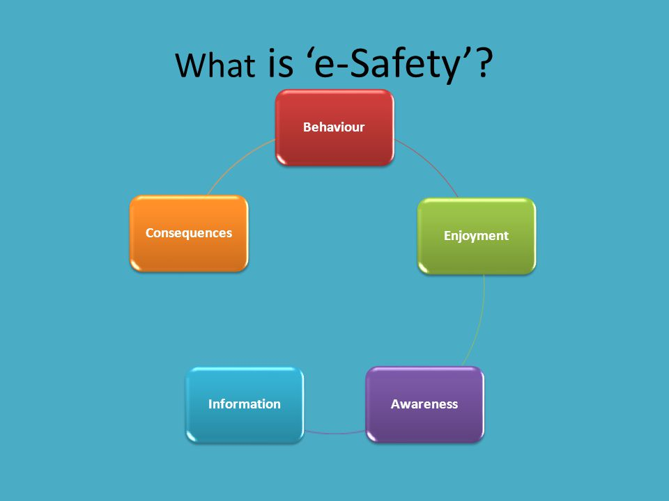 What is 'e-Safety' Behaviour Enjoyment Awareness Information