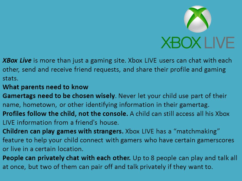 XBox Live is more than just a gaming site