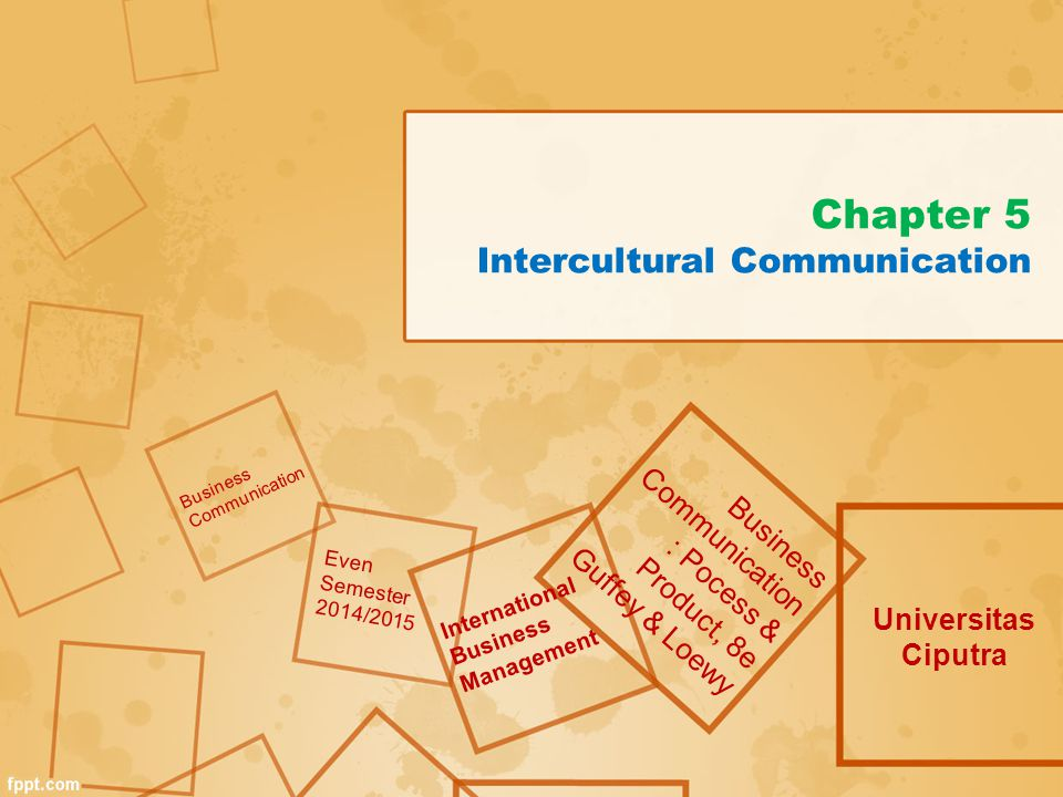 Chapter 5 Intercultural Communication