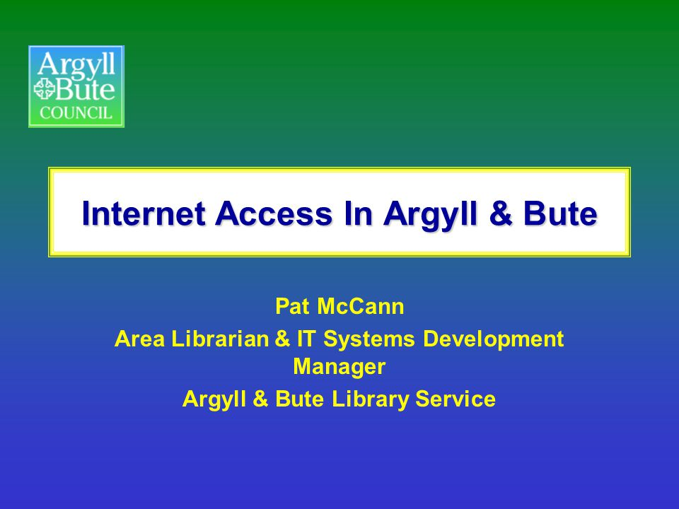 Internet Access In Argyll & Bute