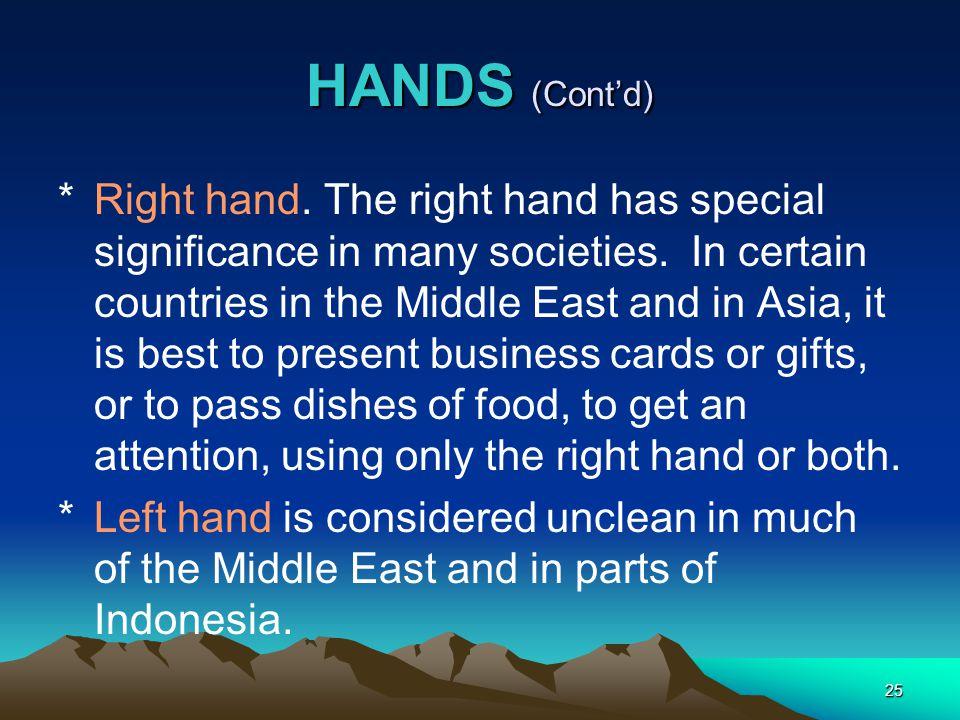 HANDS (Cont'd)