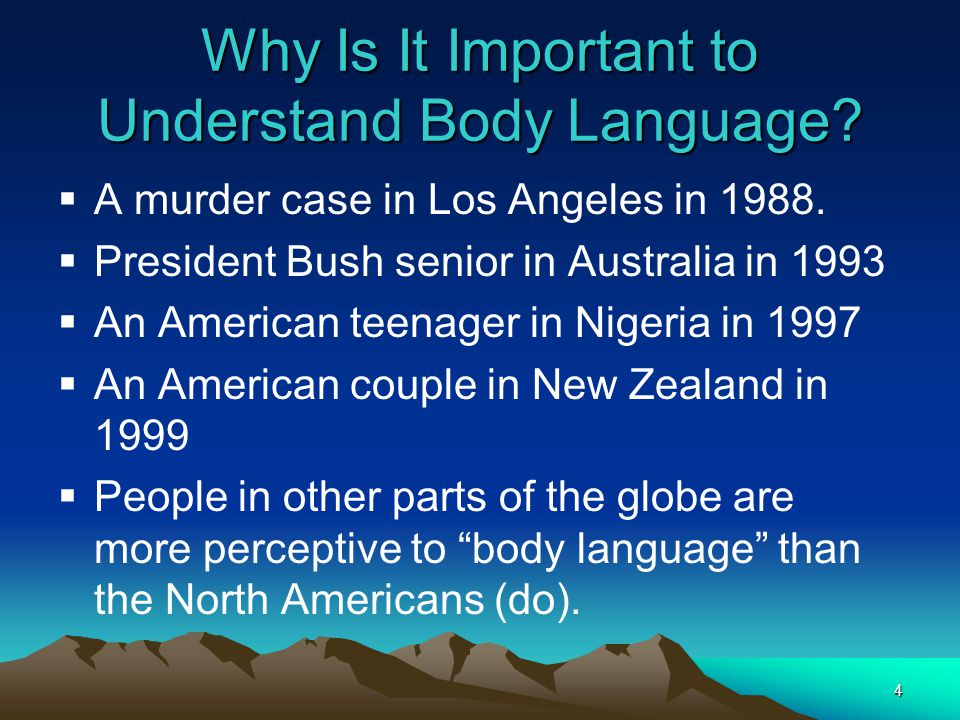 Why Is It Important to Understand Body Language