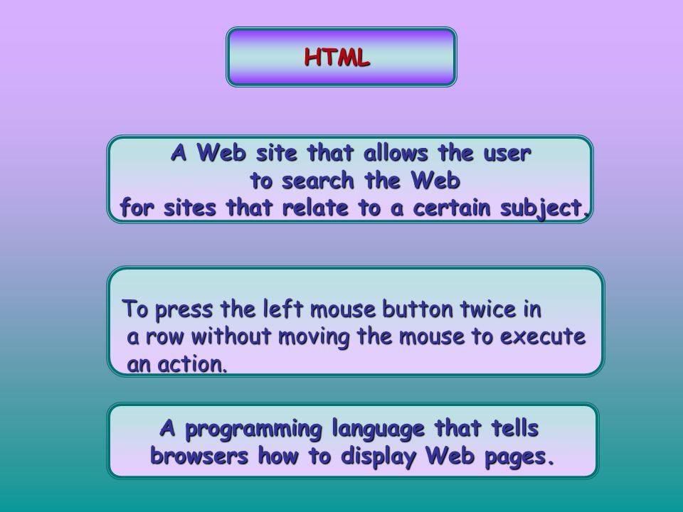 A Web site that allows the user to search the Web