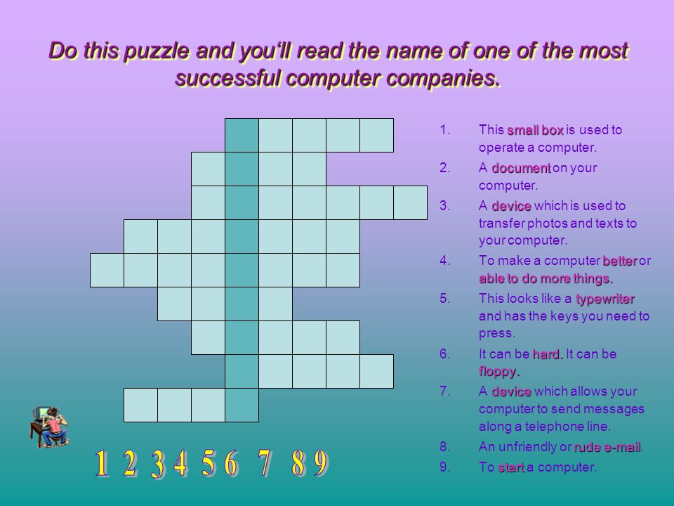 Do this puzzle and you'll read the name of one of the most successful computer companies.
