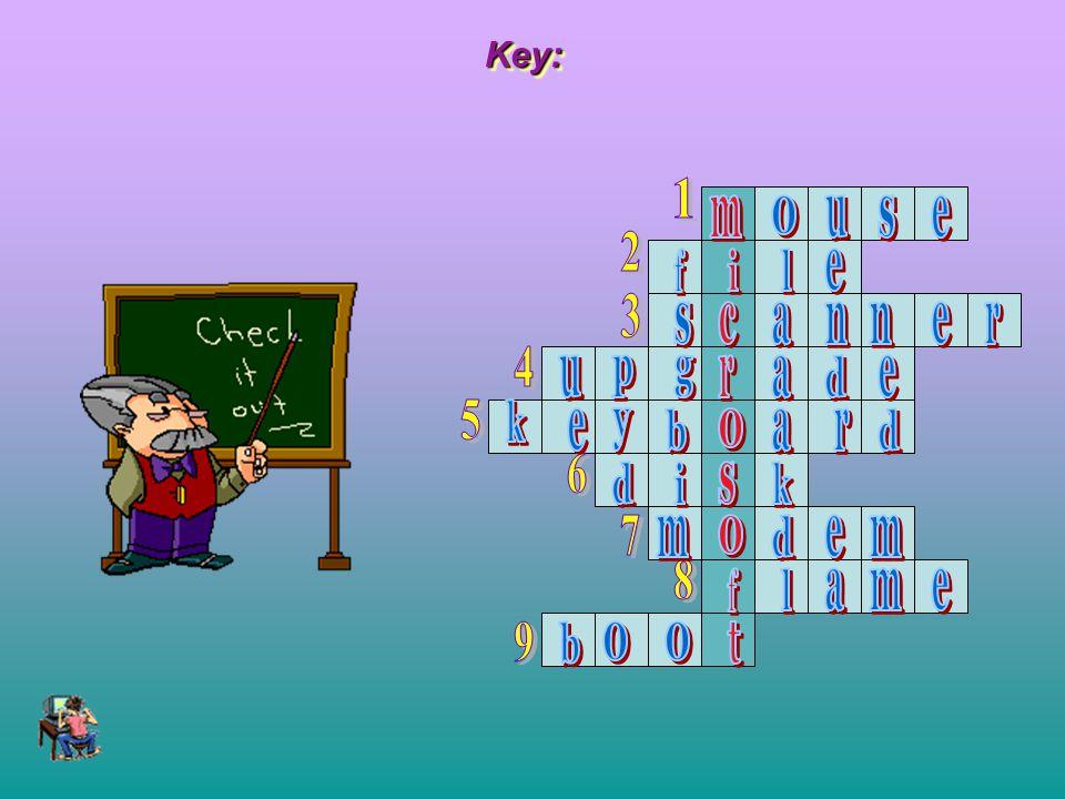 Key: 1. m. o. u. s. e. 2. f. i. l. e. 3. s. c. a. n. n. e. r. 4. u. p. g. r.
